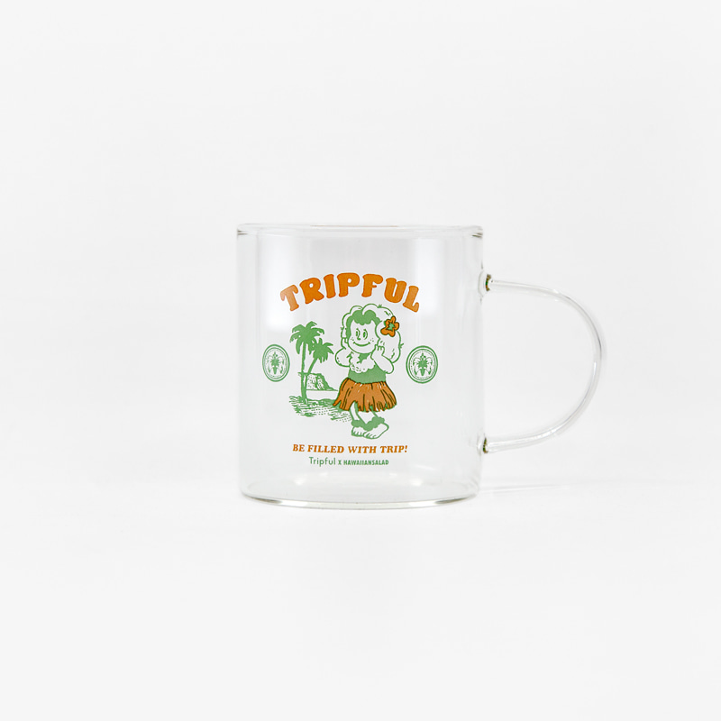 [Tripful X Hawaiian Salad] Glass Mug 190ml